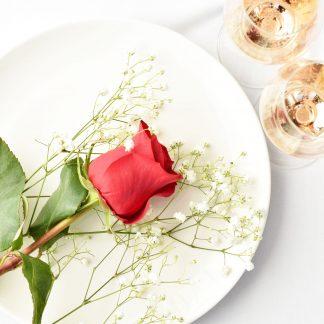cena para dos, cena romántica, san valentín